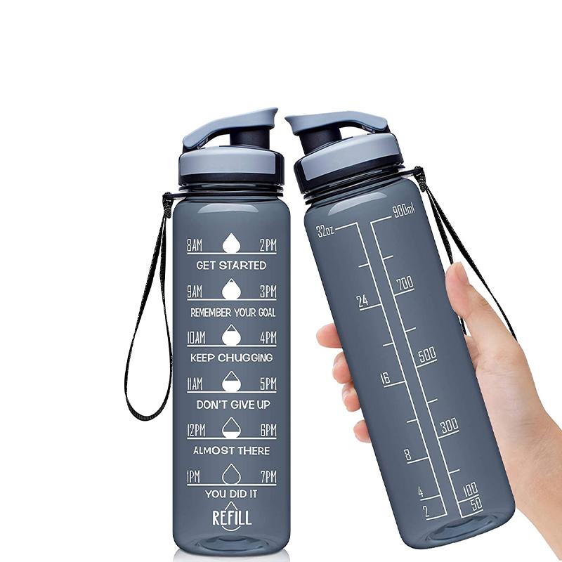 32oz Tritan Non-Tossico Bottiglia Grande di Acqua con Motivazionale Tempo Marker Rimovibile Filtro Flusso Veloce BPA acqua Libera bottiglia