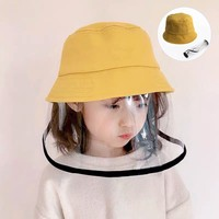 JALOFUN New Arrival Kid Anti Spitting Droplets Protective Hat Fisherman Cap Face Visor Cover Bucket Hat for Kids