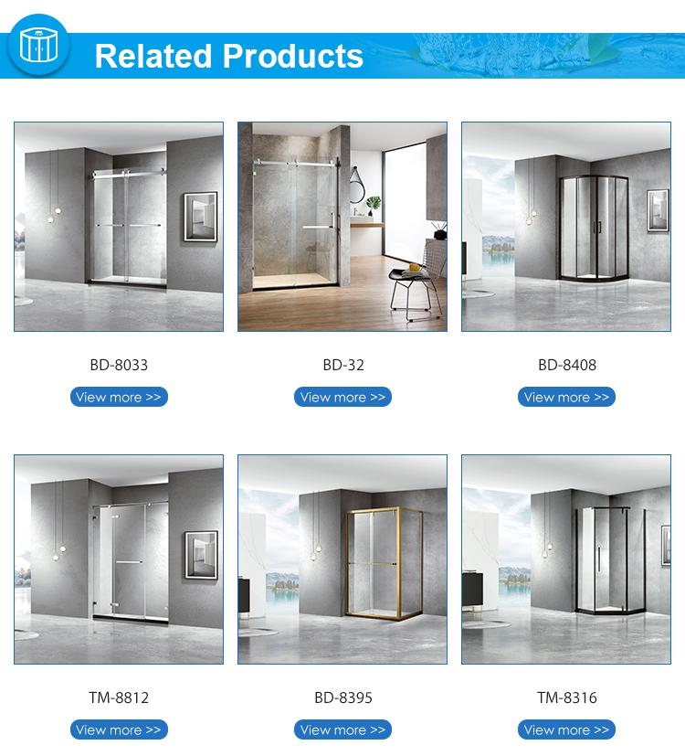 プレハブモジュール式ガラスバスルームシャワールーム2面シャワーエンクロージャ