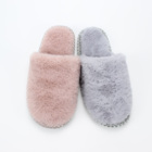 plush home warm ladies TPR outsole indoor slipper basic shoes