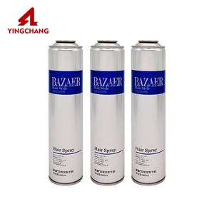 Empty tin wholesale tinplate hair spray glue color aerosol can