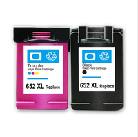 Hicor wholesale price refill printer cartridge 652 with full sponge remanufactured 652XL ink cartridge for HP