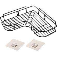 Угловая полка для ванной комнаты, угловая рама из кованого железа, кухонная приправа, Настенная угловая стойка для хранения ZP7191626(Китай)