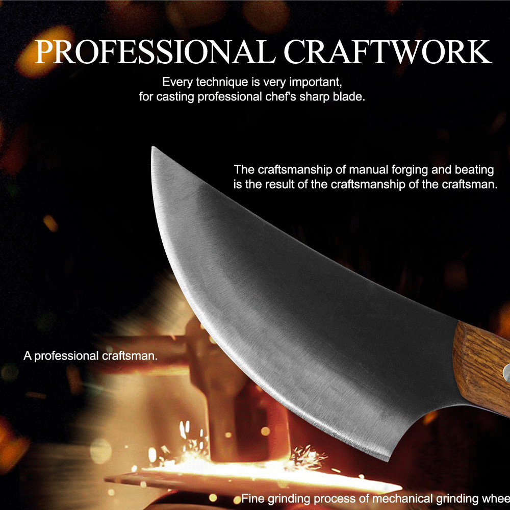 Kitchen Knives Handmade 5.5 inch Outdoor Chef knife Butcher Serbian Cutter Meat Slaughter Cutting Cleaver Camping knife