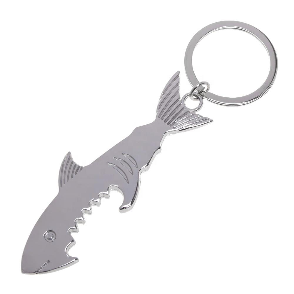 सबसे अच्छा बेच रसोई सामान कस्टम स्टेनलेस स्टील मछली शार्क शराब की बोतल सलामी बल्लेबाज