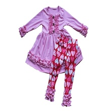Kinder Herbst Winter <span class=keywords><strong>Kleidung</strong></span> Sets Baby Mädchen Baumwolle Tops mit Eis Leggings Outfit Großhandel Baby <span class=keywords><strong>Kleidung</strong></span>