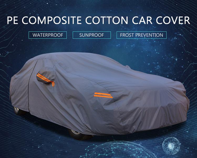 PE algodón compuesto cubre estática del lado del coche ventana parasol para autos