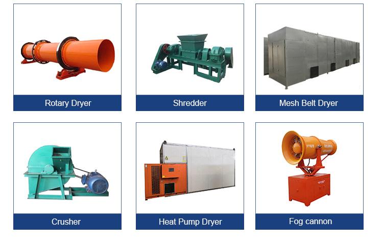 Multifuncional secador de tambor Industrial fuego directo secador rotatorio