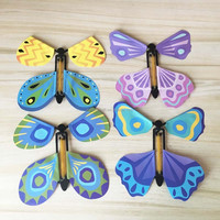 Cheaper Colorful Artificial Flying Paper Butterfly magic flying butterfly toys