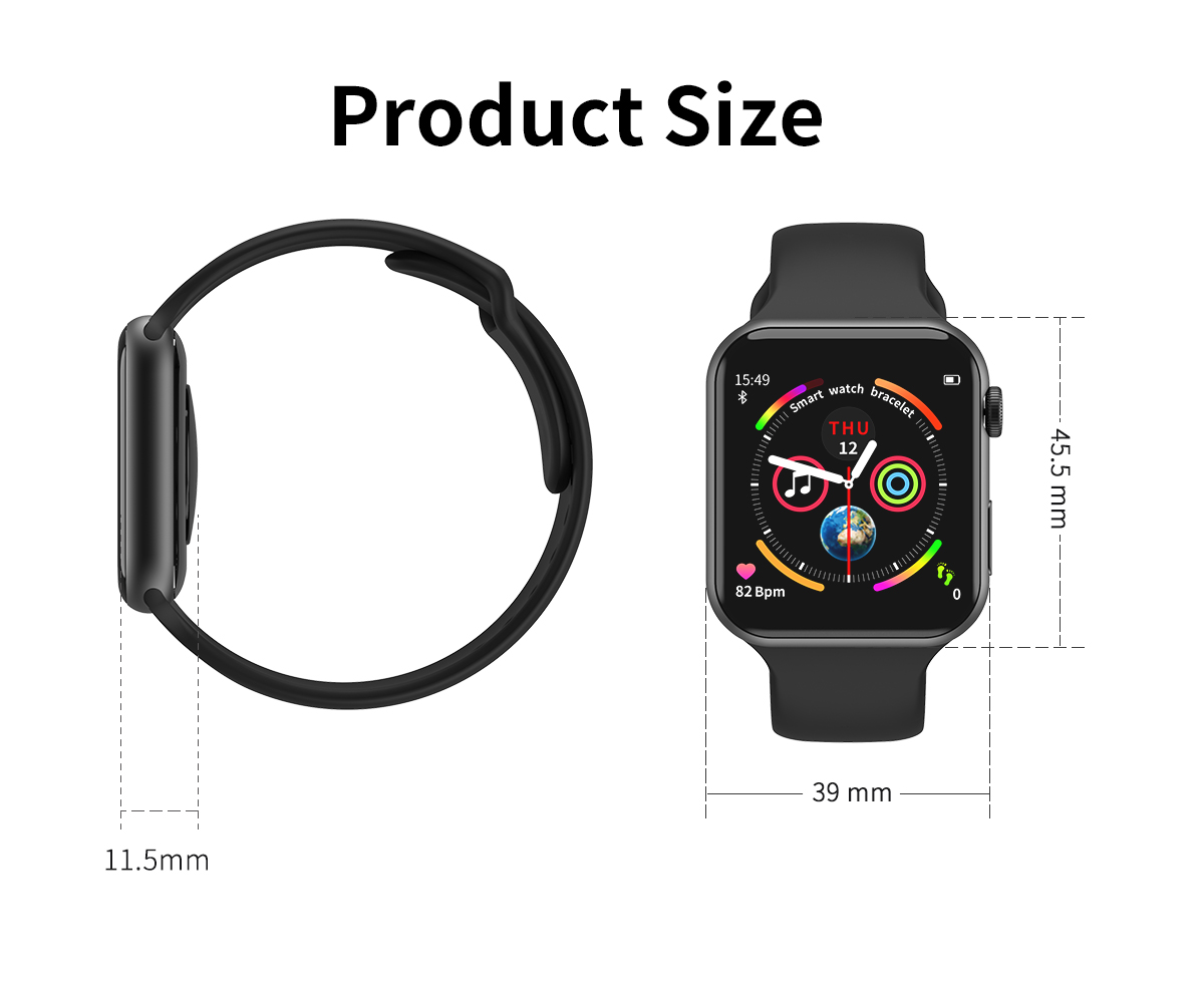 F10 Smart Watch 1.54Inch Sport Pedometer Health Smartwatch for Android Ios