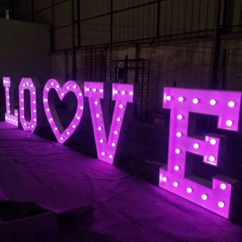 Decorative Led Up Number Letters White Plastic Marquee Number Lights Sign For Party Wedding Decor Battery Operated Number (2)