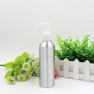 5oz 150ml aluminium bottle with hasp 150 ml aluminum bottle with shampoo pump with hasp for lotion cream shampoo China supplier