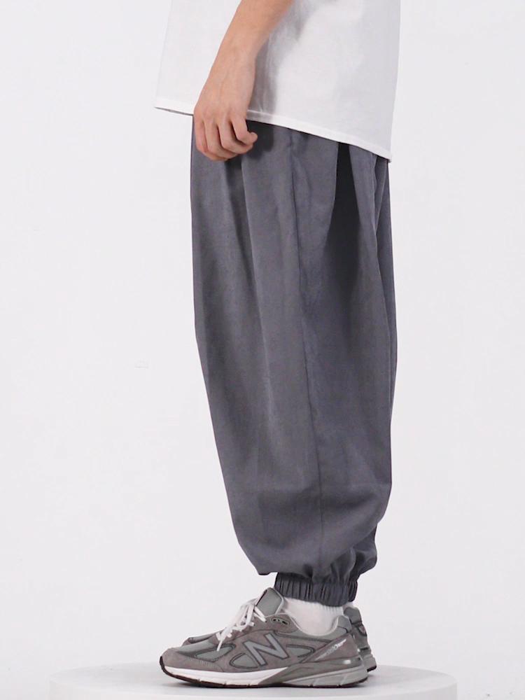 Мужские брюки для бега, уличная одежда, мужские штаны-шаровары, ветровка, мужские мешковатые штаны с эластичной резинкой на талии, мужские повседневные брюки 3015S20