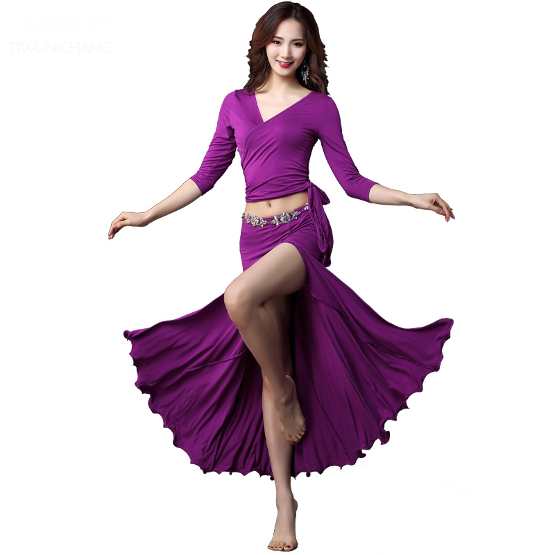 New Arrival Sexy <strong>Belly</strong> <strong>Dance</strong> Long Skirt With Bra Tops Costumes In Performance Wear