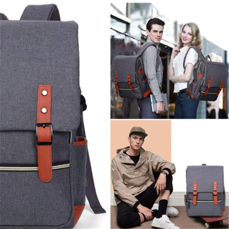 Osgoodway Waterproof Wholesale Custom Logo College Style Vintage Fashion Korean Travel Laptop Backpack for Business Campus