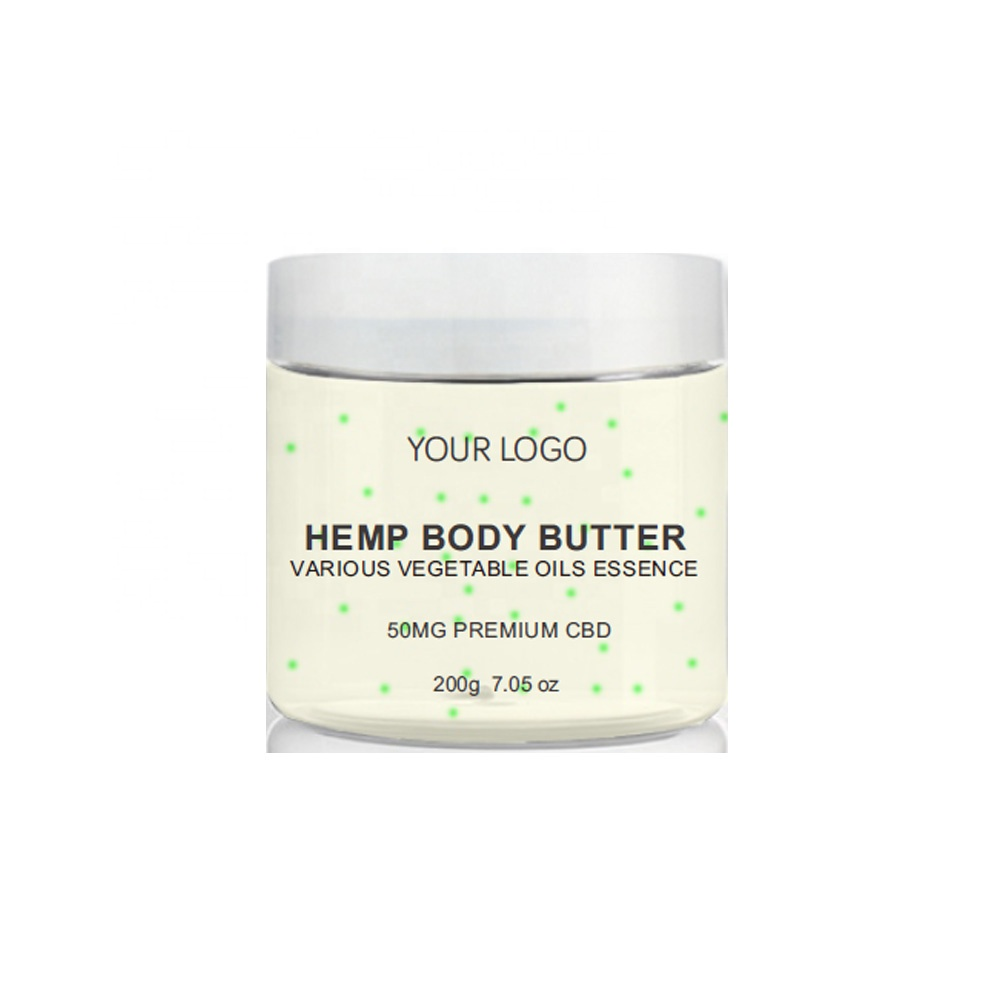 OEM Private Label Shea Butter Organic Moisturizing Hydrating Calming Relief Soothing Hemp Oil Hemp Butter CBD Lotion <strong>Body</strong> Butter