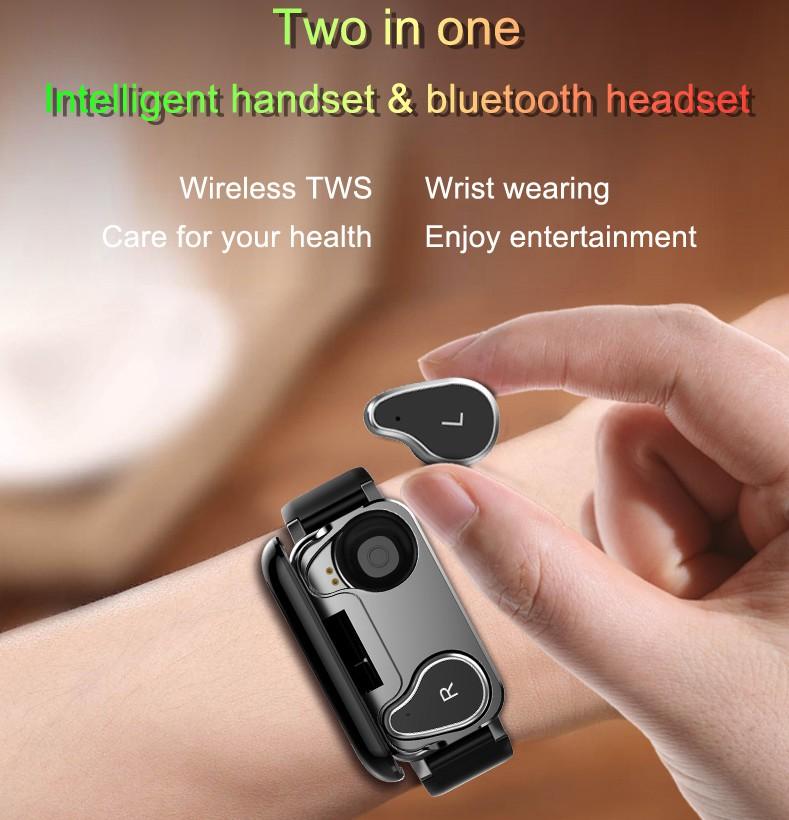 T89 NEW HD Smart Watch Men with Earphone headphones Women SmartWatch IP67 Support BT Call Fitness Bracelet Smart Band wristband