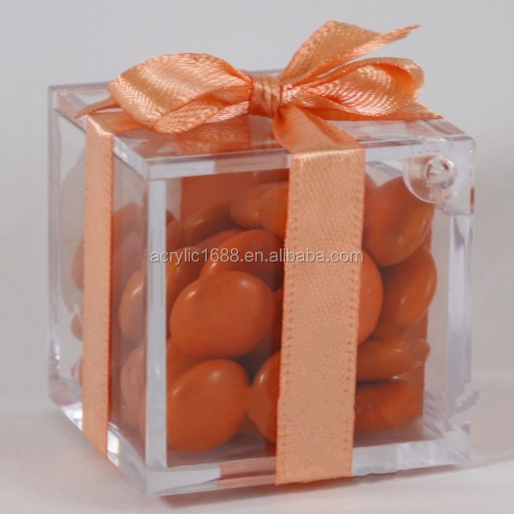 Luxury clear acrylic wedding candy boxes/wedding party favors