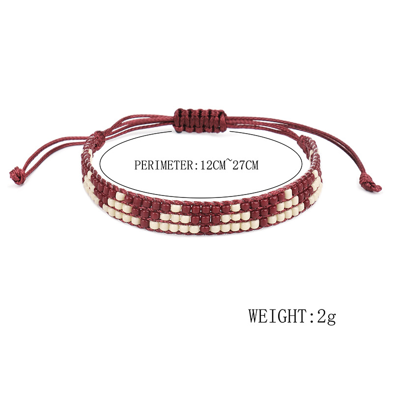 New Fashion Boho Jewelry Handmade Multi-layer Colorful Lucky Leather Beaded Warp Bracelet For Women