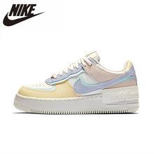 Nike Air Force 1 Оригинальная женская обувь для скейтбординга удобные спортивные кроссовки белого цвета()