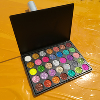 Private Label Make Up Cosmetics OEM  brand wholesale makeup Pressed Glitter 35 colors Eyeshadow