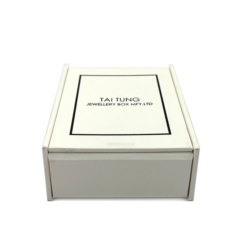 Wholesale Free Sample Disposable Paper White Paper Necklace Bracelet Box