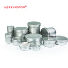 aluminum tin with lid for cosmetic tin/food storage/tea jar 5g 10g 15g 20g 25g 30g 50g 60g 80g 100g 150g 200g 250g 300g 500g