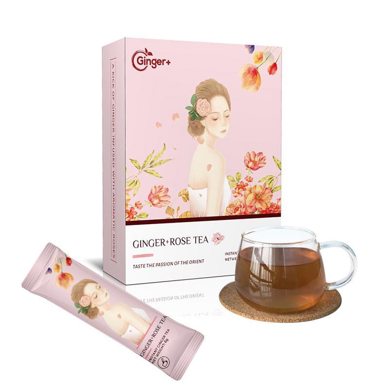 Rose Tea Ginger/Super Instant Ginger Tea/Rose Brown Sugar Herbal Tea - 4uTea | 4uTea.com