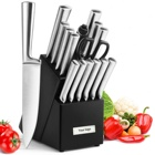 High Quality Professional 16 pieces Stainless Steel Kitchen Knife set With Wood Block