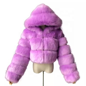 2020 Winter Set Faux Fur Coat Jacket Women Fox Fur Coat Winter Clothing Woman