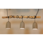 Vintage style wholesale kitchen island 3 pcs cement hanging lamp