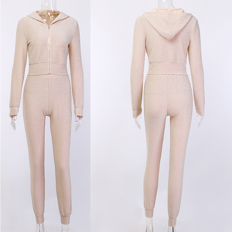 Gold and Silver wire two piece track suit tracksuit nylon track suit