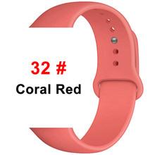 Ремешок для часов, силиконовый для Apple Watch 1/2/3/4/5, 44/40/42/38 мм(Китай)