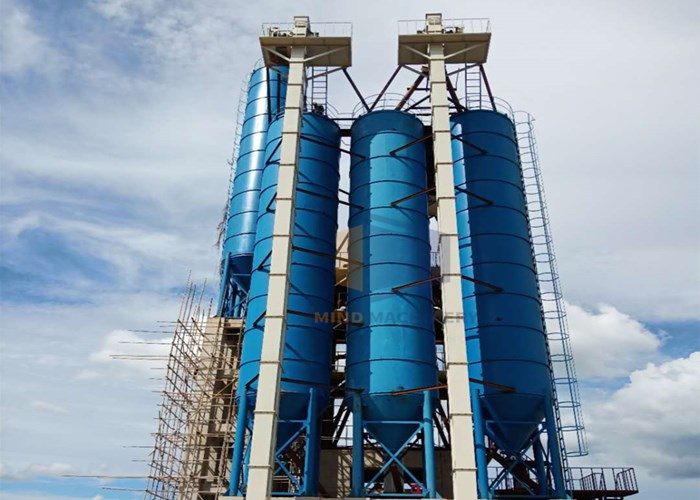 50 ton Sectional Piece Type Bulk Cement Tank , Fly Ash Storage Silos