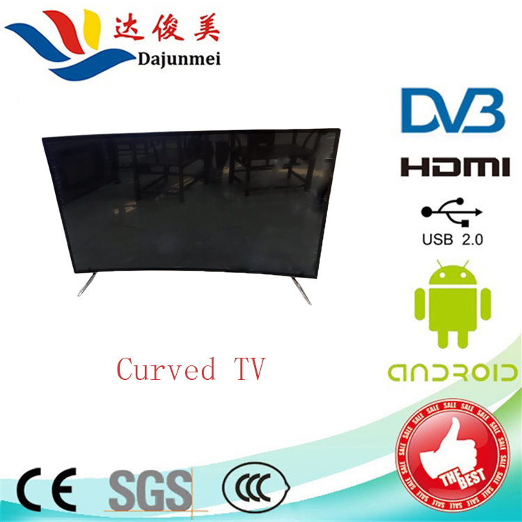 Hot 4K UHD TV Curved 65inch in LED TV Professional Monitor Wifi with Android from China