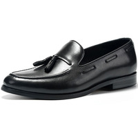 Soft leather loafer shoes men fashion breathable casual flat leather black shoes
