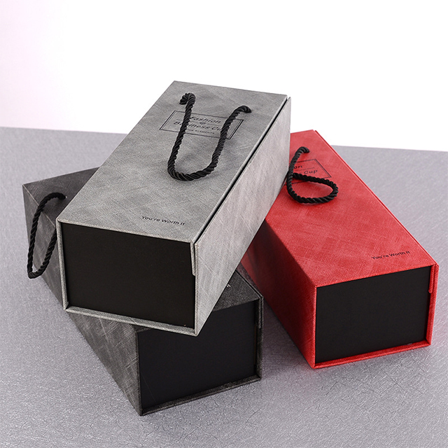 High Quality Paper bag with string Eco Friendly Custom  string Paper bag glass Paper Gift Box