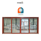 Door Aluminum Sliding California Customer Recommendation Super Wide Balcony Aluminium Clad Wood Glass Sliding Door Price List