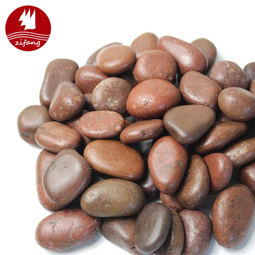 גן חיצוני חלוקי סלעים מעורב צבע אבן מלוטש חצץ עבור גינון אגרטל חומרי מילוי