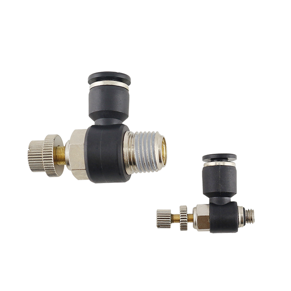 JCS series Air Cylinder Throttle valve Thread Flow Control Pneumatic <strong>Fittings</strong>