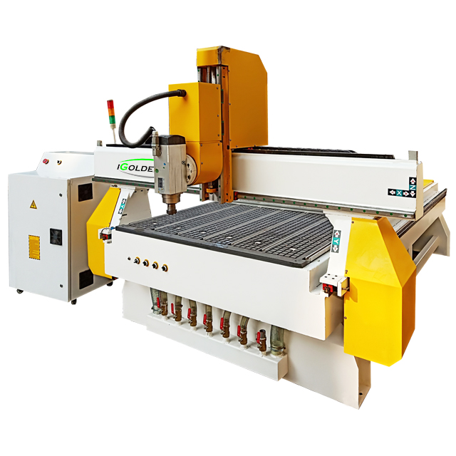 Multi-4 แกน cnc woodworking machinery 1325 cnc router แกนหมุน cnc