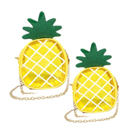 Clear Stadium Shoulder Bag Wholesale Customized Cute Pineapple Crossbody Bag