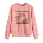Women's Autumn Long-sleeved Casual Round Neck Student Sweet Print Sweater Custom Cotton Youth Thin Hoodies