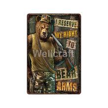 [WellCraft] пистолет не вызов 911 Военная настенная доска металлические знаки художественная винтажная живопись персональный пользовательский Д...(Китай)