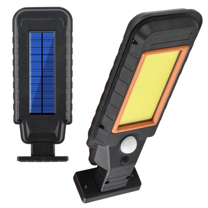 Newest Security solar street light Smart Sensor COB 128 LED Solar Garden Lights Wireless Waterproof Path Wall lamp yard lighting