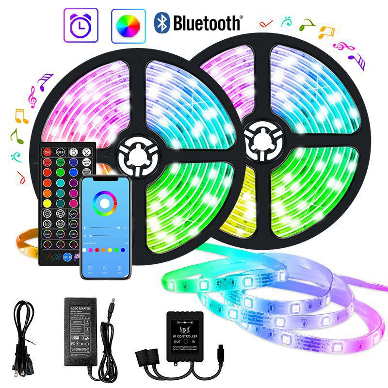 Zm Wholesale Price Smart 12V Flex Waterproof Bluetooth WiFi RGB 5050 SMD 5M Tape Led Strip Light Ledstrip With Remote