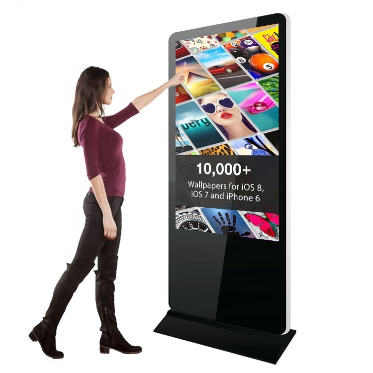 43 49 pollici floor stand verticale pubblicità display a cristalli liquidi android tablet in piedi digital signage stand chiosco totem media player