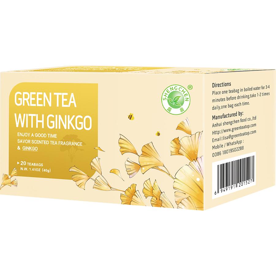OEM customized FDA certified Strengthen the heart and lung ,lowering blood fat 2g *20 bags /box ginkgo tea - 4uTea | 4uTea.com