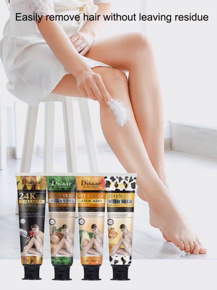 100ml Susu Madu Hair Removal Cream Menyakitkan Bahan Alami Rambut Menghapus Untuk Kaki Lengan Area Pribadi Wajah