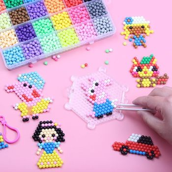 2019 Newest design preschool educational toys bonded water fuse perler beads DIY toys for kids
